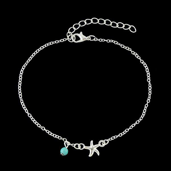 Chic Charm Faux Turquoise Starfish Anklet