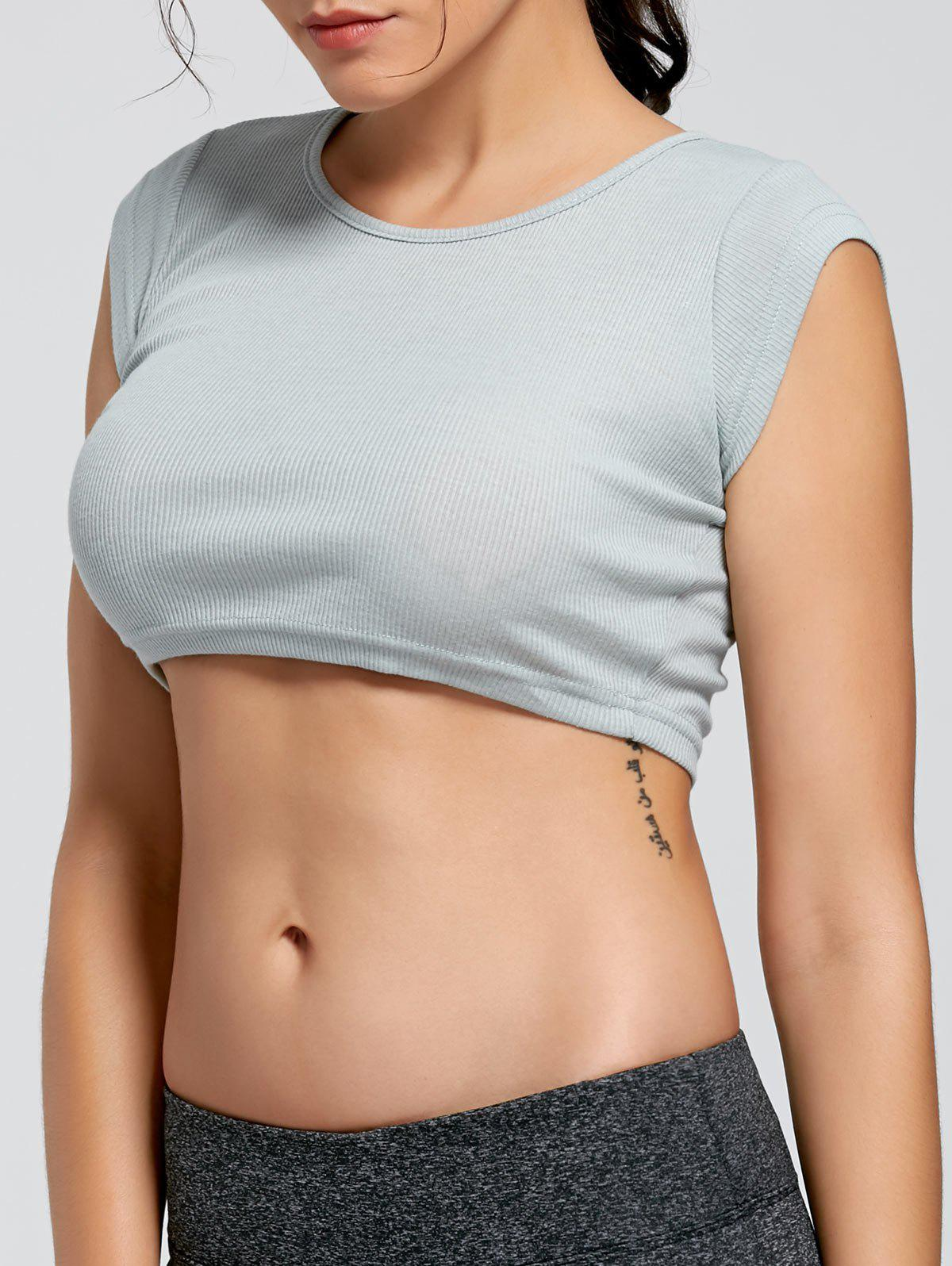 Ribbed Crop T shirt 218097302