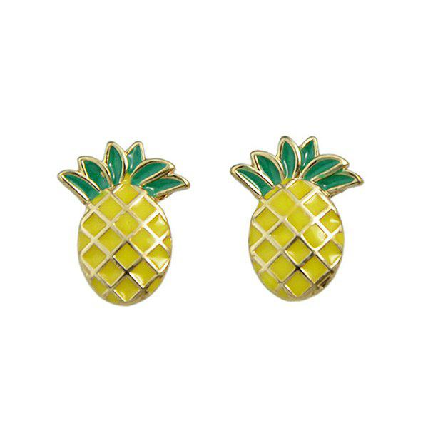 Fancy Tiny Pineapple Stud Earrings