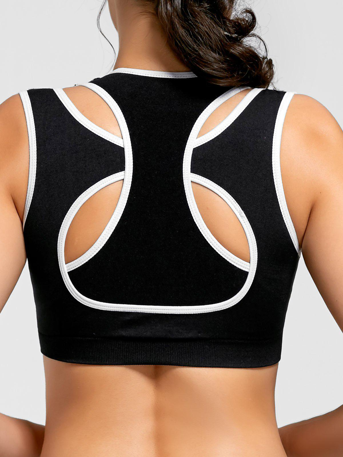 Online Two-layered Contrast Padded Sports Bra