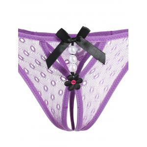 Lace Low Waist Lingerie G-String -