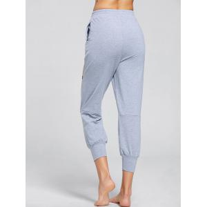 Découpe Drawstring Sports Destroyed Joggers - Gris S