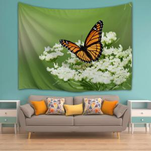 Papillon Floral Wall Hanging Tapestry Décoration intérieure -