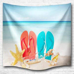 Beach Shoes Wall Hanging Tapestry Dorm Bedspread - Colormix - W59 Inch * L79 Inch