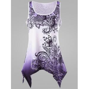Ombre Handkerchief Plus Size Tank Top
