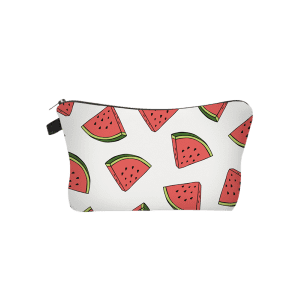 Fruit Printed Clutch Makeup Bag - WHITE