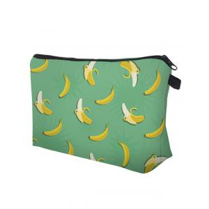 Fruit Printed Clutch Makeup Bag - GREEN