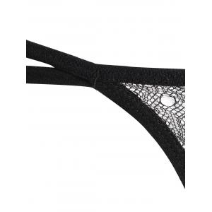 Embroidered Dual Straps G-String -