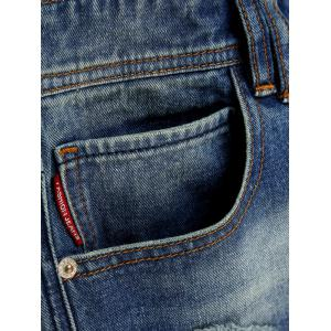 Slim Fit Zipper Fly Ripped Neuf Minutes of Jeans -