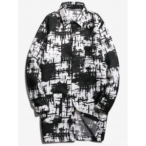 Chest Pocket Tie Dyed Coat
