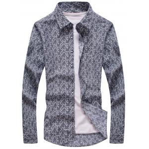 Floral Pattern Long Sleeve Shirt
