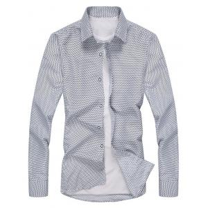 Long Sleeve Tiny Cross Print Shirt