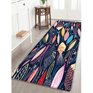 Cartoon Fish Pattern Anti-skid Water Absorption Area Rug - Colormix - W24 Inch * L71 Inch