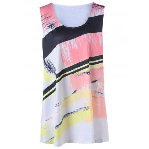 Splash Ink Print Plus Size Tank Top