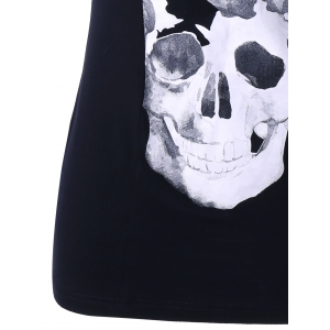 Lace Panel Skull Tank Top -