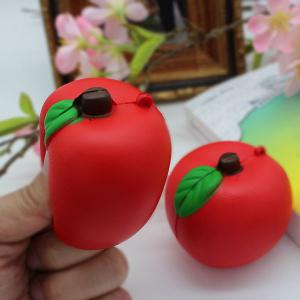 1PC Slow Rising Simulated Apple Squishy Toy - Rouge