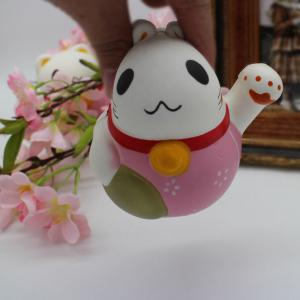 Slow Rising Simulated Fortune Cat Squishy Toy - PINK