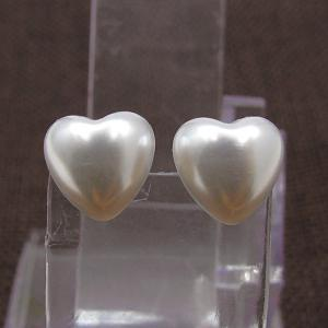 Faux Pearl Heart Stud Tiny Earrings