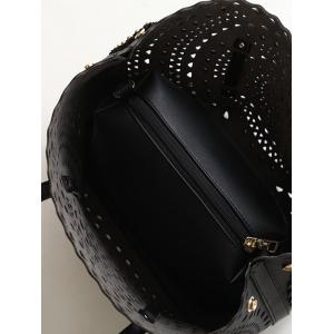 Sac à bandoulière Rivet Hollow Out - Noir