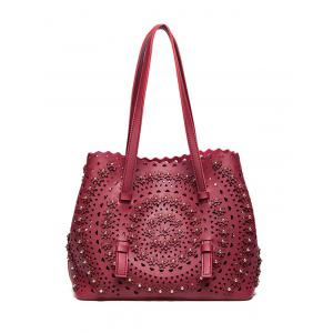 Rivet Hollow Out Shoulder Bag