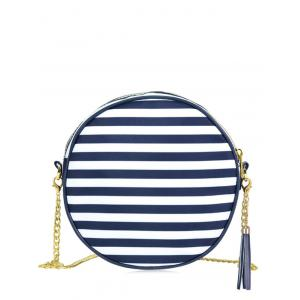 Tassel Chain Canteen Cross Body Bag - Blue - 44