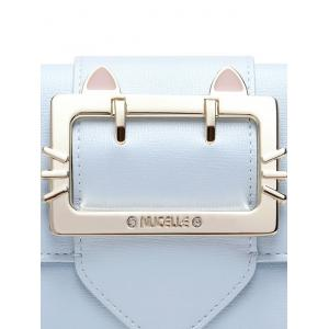 Tri Fold Buckle Strap Small Wallet -