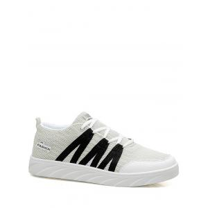 Mesh Breathable Skate Shoes - White - 38