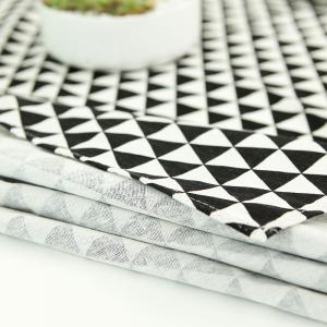 Geometry Print Linen Kitchen Dining Decor Tablecloth -