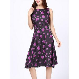 Heart Print Party Skater Dress