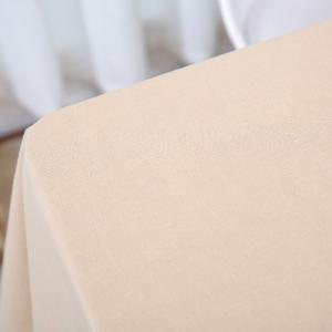 Linen Table Cloth For Dining - BEIGE W55 INCH * L78 INCH