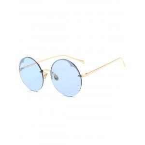 Round Metallic Semi-rimless Sunglasses