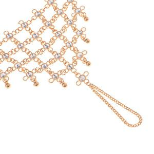1PC Rhinestoned Chinese Knot Slave Anklet - GOLDEN