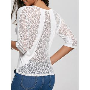 Back Sheer Lace Top