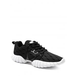 Mesh Breathable Geometric Pattern Athletic Shoes