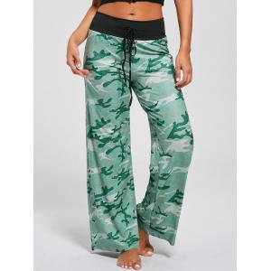 Casual Drawstring Camouflage Pants