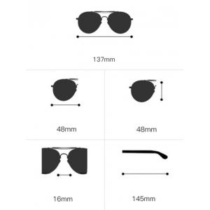 Hollow Out Leg Round Two-tone Splicing Sunglasses -