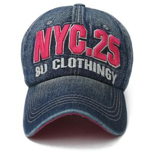 Letters Number Embroidered Nostalgic Baseball Cap -