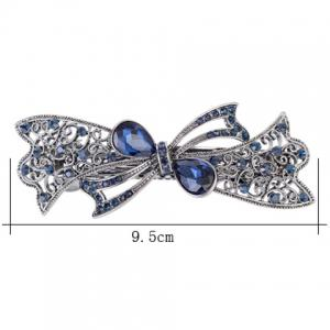 Bowknot Design Rhinestone Hollow Out Barrette -