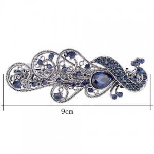 Rhinestone Retro Peacock Shape Barrette -