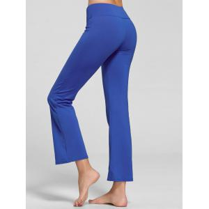 Stretch Flare Yoga Pants avec poche - Bleu XL