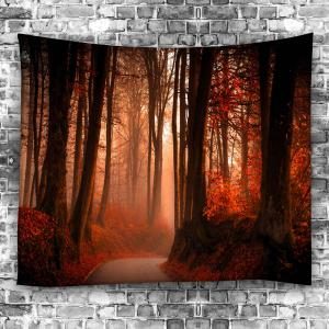 Maple Leaf Forest Waterproof Wall Hanging Tapestry -
