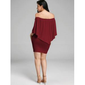 Off The Shoulder Poncho Bodycon Popover Dress -