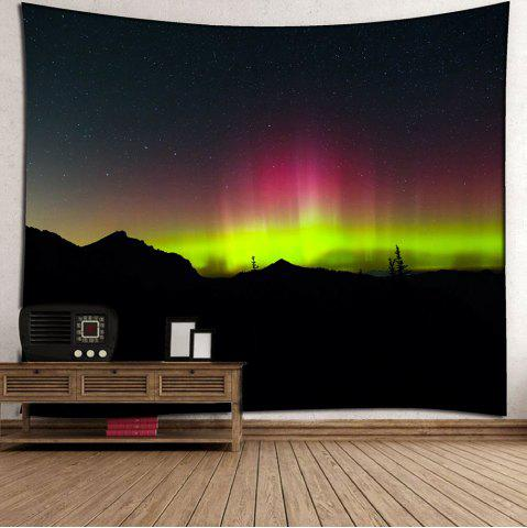 Cheap Aurora Borealis Waterproof Wall Art Tapestry - W59 INCH * L51 INCH DEEP BLUE Mobile