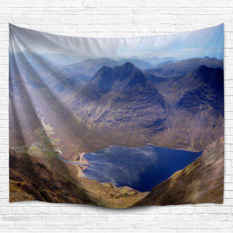 Outfits Mountain Landscape Wall Hanging Home Decor Tapestry - W51 INCH * L59 INCH COLORMIX Mobile