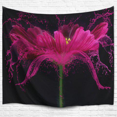 Best Flower Print Wall Hanging Beach Throw Tapestry - W51 INCH * L59 INCH BLACK Mobile
