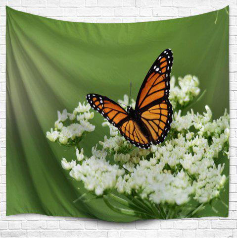 Papillon Floral Wall Hanging Tapestry Décoration intérieure