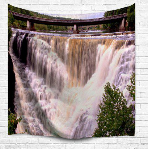 Unique Wall Art Beach Throw Waterfall Scenery Tapestry - W51 INCH * L59 INCH COLORMIX Mobile