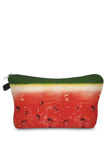 New Fruit Printed Clutch Makeup Bag - RED  Mobile