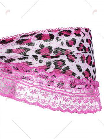 Shops Lace Leopard Lingerie Ruffles G-String - ONE SIZE PEACH RED Mobile