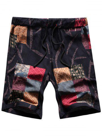 Trendy Tribal Print Drawstring Shorts